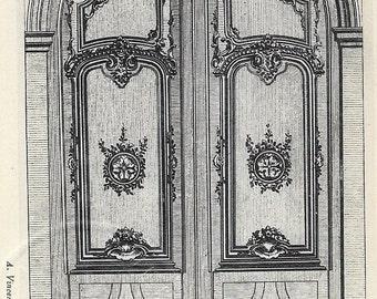 Arched door detail by auguste vincent 4 rue des beaux arts - Rue des beaux arts ...
