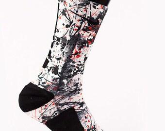 """Custom Nike Elite or Notion Socks for Lebron 11 """"Graffiti"""""""