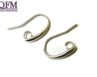 4 pairs (8 pcs) Sterling Silver 925 Hook earrings ear wire with open loop
