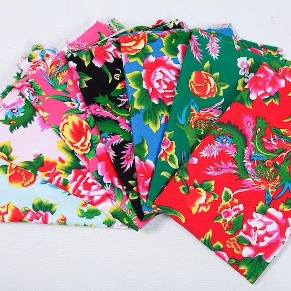 tissu traditionnel chinois rouge pivoine coton tissu coton. Black Bedroom Furniture Sets. Home Design Ideas