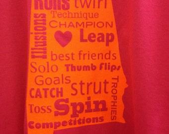 State baton twirling shirt