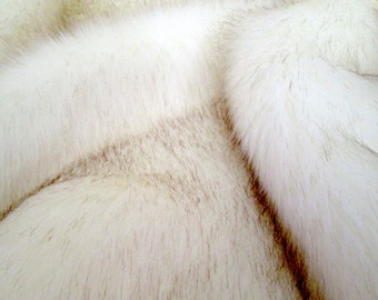 Luxurious Arctic Fox FAUX FUR FABRIC, Sold By Yard