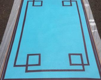 Floor cloths, Greek Key