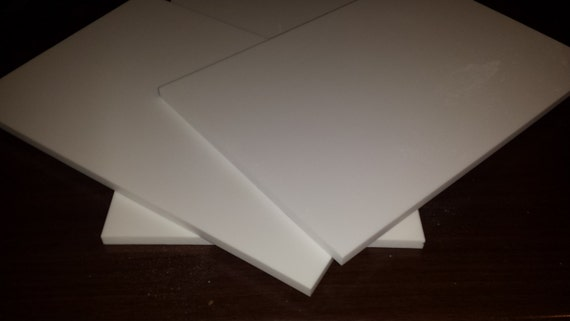 Corian Solid Surface Scrap Pieces 8'' x 12''  8.15mm Thick 15 PIECES Glacier White