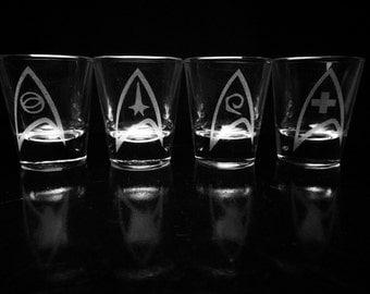 Star Trek Shot Glasses - Set of 4