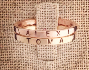 Thin gold stamped Ring