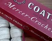 Vintage Coats Crochet Thread Lot of 9 in Original Box