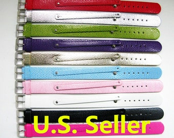 Personalized Wristband Initial Wristband Name Bracelet 8mm Slide Charm Wristband Slide Charm Bracelet Bulk Sale Ships from USA