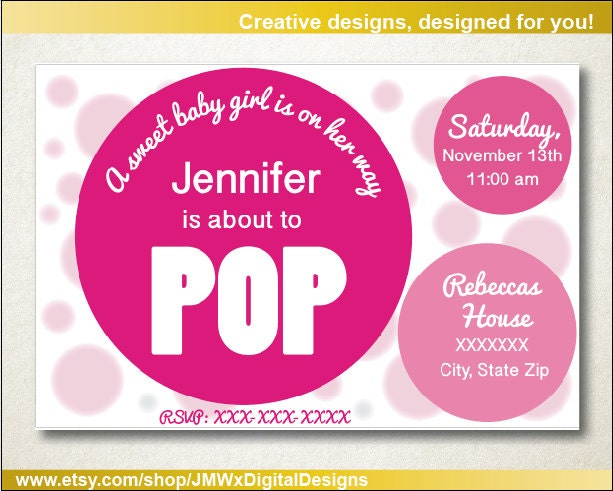 about to pop baby shower invitation baby shower invitation