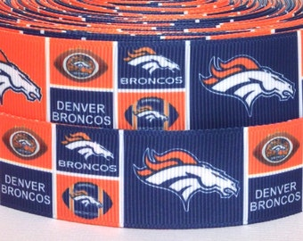 "3 yards 1"" Denver Broncos Grosgrain Ribbon - Broncos Ribbon - 3 yards Broncos Grosgrain Ribbon - 1"" Denver Broncos Grosgrain Ribbon"