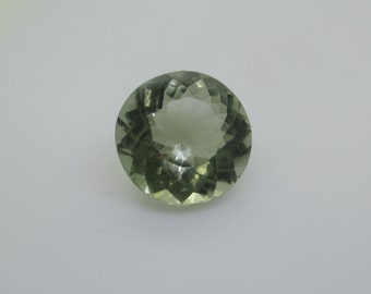 Green Amethyst Prasiolite Round Loose Stone, Natural From Brazil, 9.79 cts