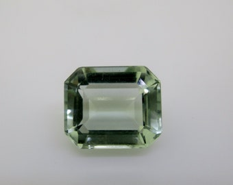 Green Amethyst, Natural Quartz, Loose Gemstones, Faceted Gemstone,  natural gemstone, emerald cut prasiolite, brazilian gemstones