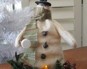 Marshmallow Snowman - Primitive Decoration