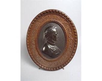 19th Century Bronze Plaque of Dante