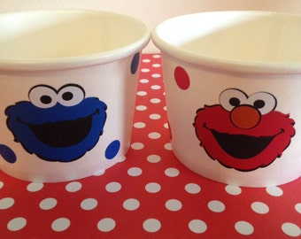 Sesame Street snack cups/ bowls/ice cream containers