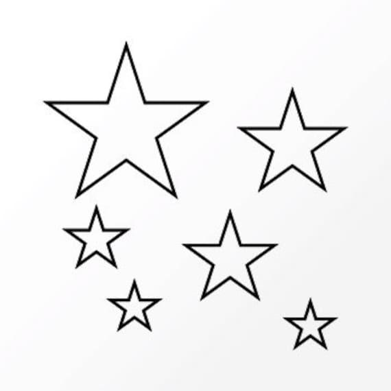 "Temporary tattoo ""Stars hollow"""