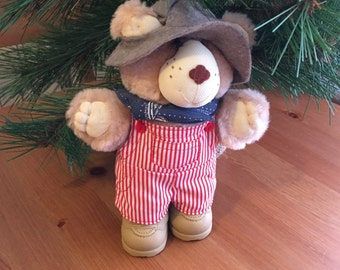 Vintage Teddy Bear Farmer Teddy Bear