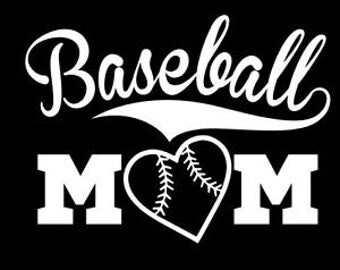 Baseball Mom Decal Etsy