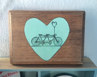 Mint Bike Heart