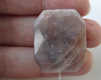 Natural Moonstone  faceted pendant  bead ( #J1339)