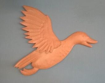 Leather flying ducks. Handmade wall mounted flying ducks