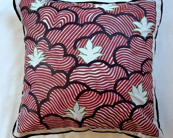 Classy Hand Painted Abstract Throw Pillow Cover in Hand Made