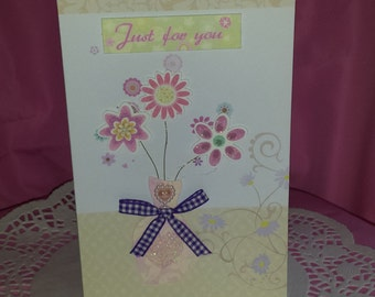 "Hand made ""Just for you ""greeting cards"