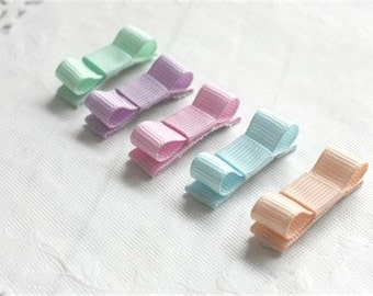 Pastel baby snap clips