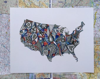 Red, White and Blue - America