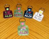 I Love Aldi Quarter Keeper Snap Tab Key Chain