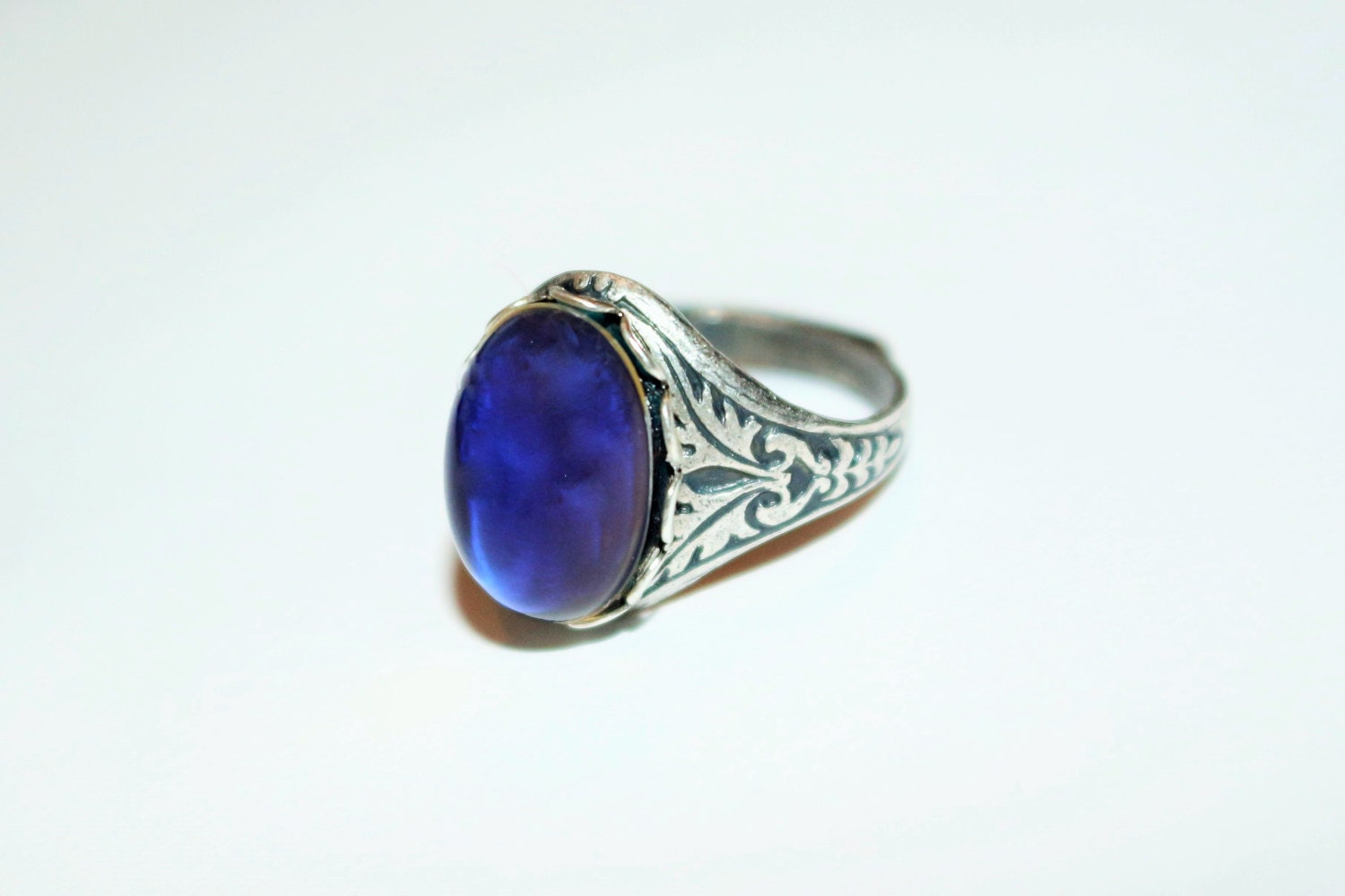 mood ring sterling silver plated antique by luckysteamworld