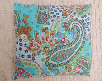Itak abstract Khanta Pillow covers - blue