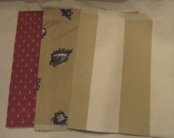 Vintage Laura Ashley sample fabrics/ 14 by 16 inches