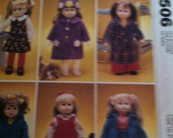 McCalls Crafts doll clothes pattern 18 inch dolls 2506