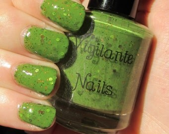 Earth, a Green Nail Polish inspired by our beloved planet.  15 mL bottle
