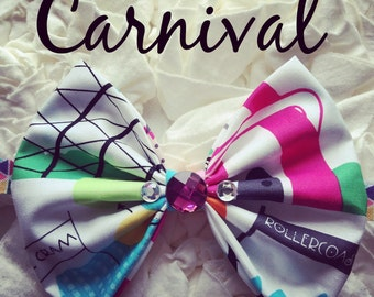 Summer carnival  Bow Head Band, Homemade