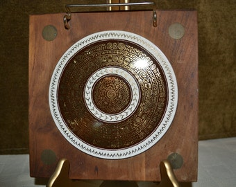 Ceramic tile trivet / wood trivet / brass spoon rest / Brown / white / gold / circle / 8 inch trivet / square trivet / trivet / ceramic tile
