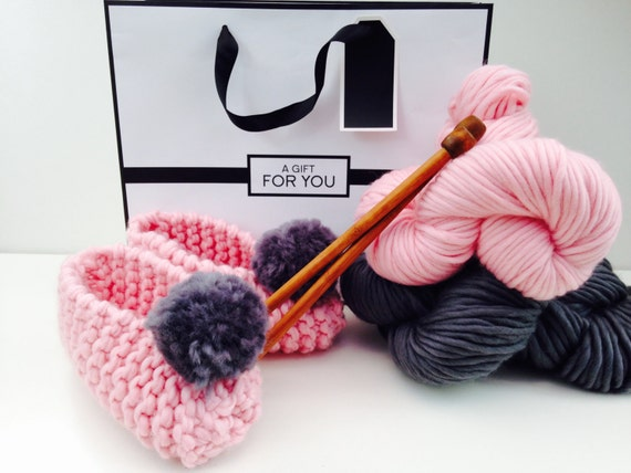 Knitting Kit For Beginners Singapore : Learn to knit beginners pompom kit diy knitting