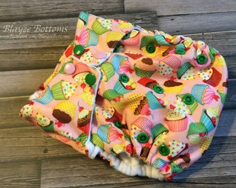 Cupcake Cuties One Size Cloth Pocket Diaper