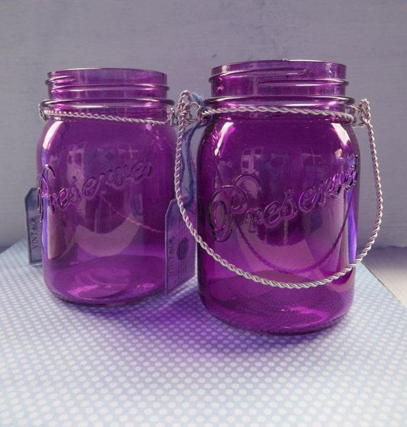 mason type quart size jars orange green or purple by limegreyhouse. Black Bedroom Furniture Sets. Home Design Ideas