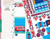 London England Theme Planner Sticker Kit // Perfect for Erin Condren Planners