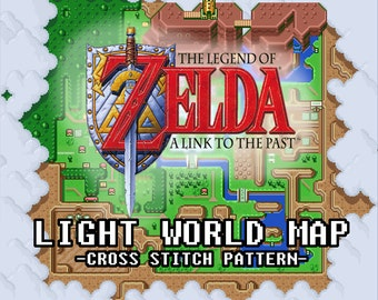Legend of Zelda: A Link to the Past (Light World) Map -- Cross Stitch Pattern!