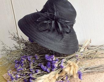 Women's summer straw hat-Straw Hat -sun hat  Elegant straw hat