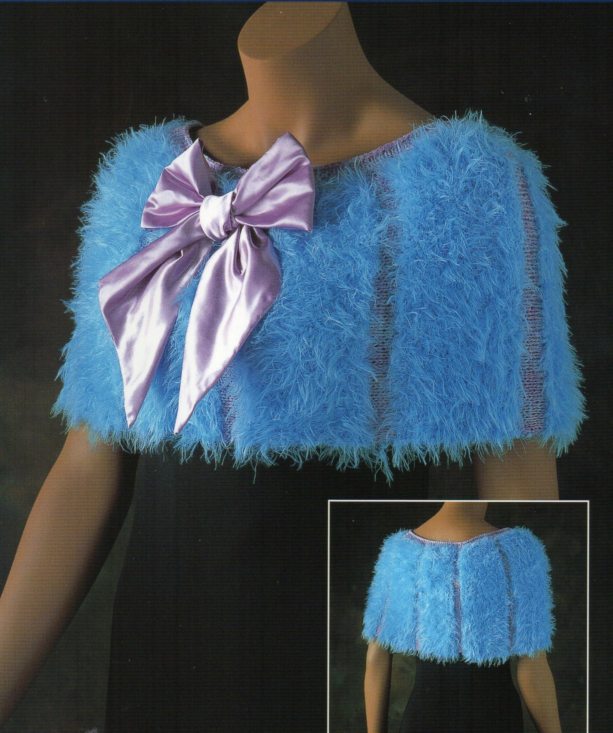 Short cape poncho capelet knit knitting pattern three quarter short cape poncho capelet knit knitting pattern faux fur satin bow shortie poncho cape capelet knitting pattern pdf instant download bankloansurffo Gallery