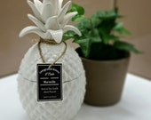 Soy Candle - 100 Hours - White Pineapple Jar