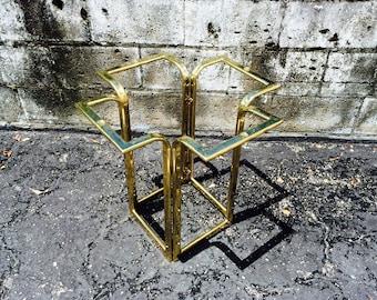 Vintage Hollywood Regency Brass Side End Table Base