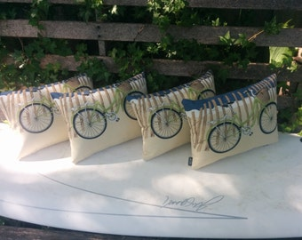 11x16 Indoor/outdoor Bicycle  pillow with zipper and insert