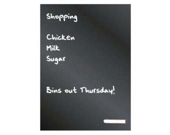 A4 Fridge Chalkboard with Magnetic Fixings, Eaziwipe Memo Blackboard, Includes FREE Stick of Chalk, Perfect for the Kitchen!
