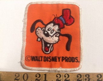 Vintage 1970's Walt Disney World Character Goofy Embroidered Patch