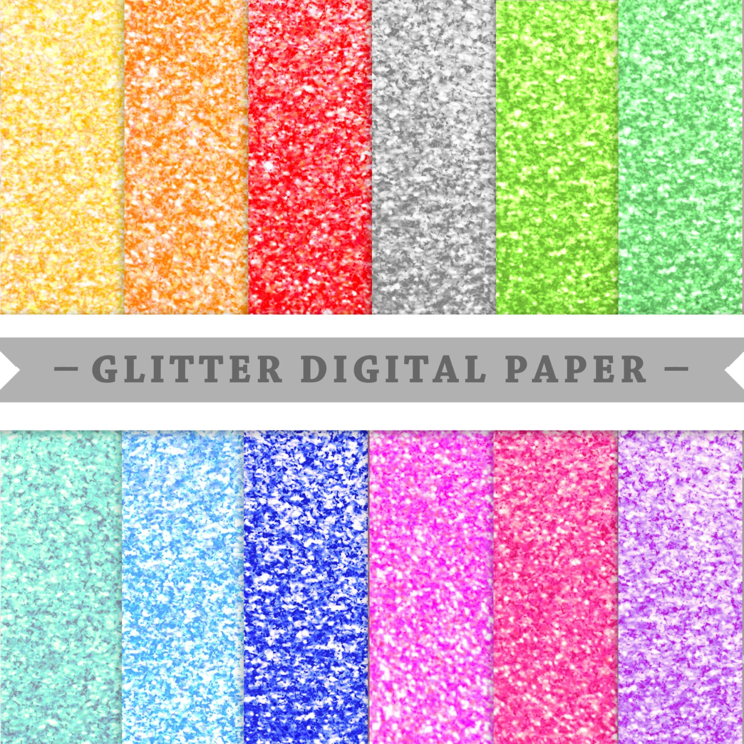 Glitter Paper Clipart Pack Clip Art Colorful